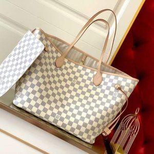 💘Louis💘Vuitton💘Neverfull MM Damier Azure Bag